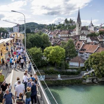 Die Stadt Baden. (KEYSTONE/Christian Merz)