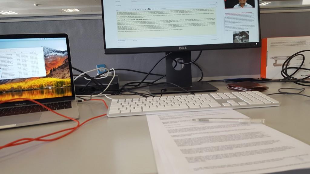 Arbeitsplatz Reporter-Dienst