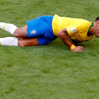 FILE PHOTO: Brazil's Neymar lies on the pitch in match against Mexico at Mexico - Samara Arena, Samara, Russia - July 2, 2018. REUTERS/David Gray/File Photo
